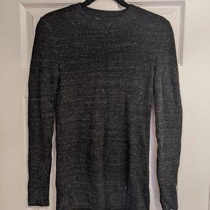 Banana Republic Merino Wool Ribbed Grey Sweater